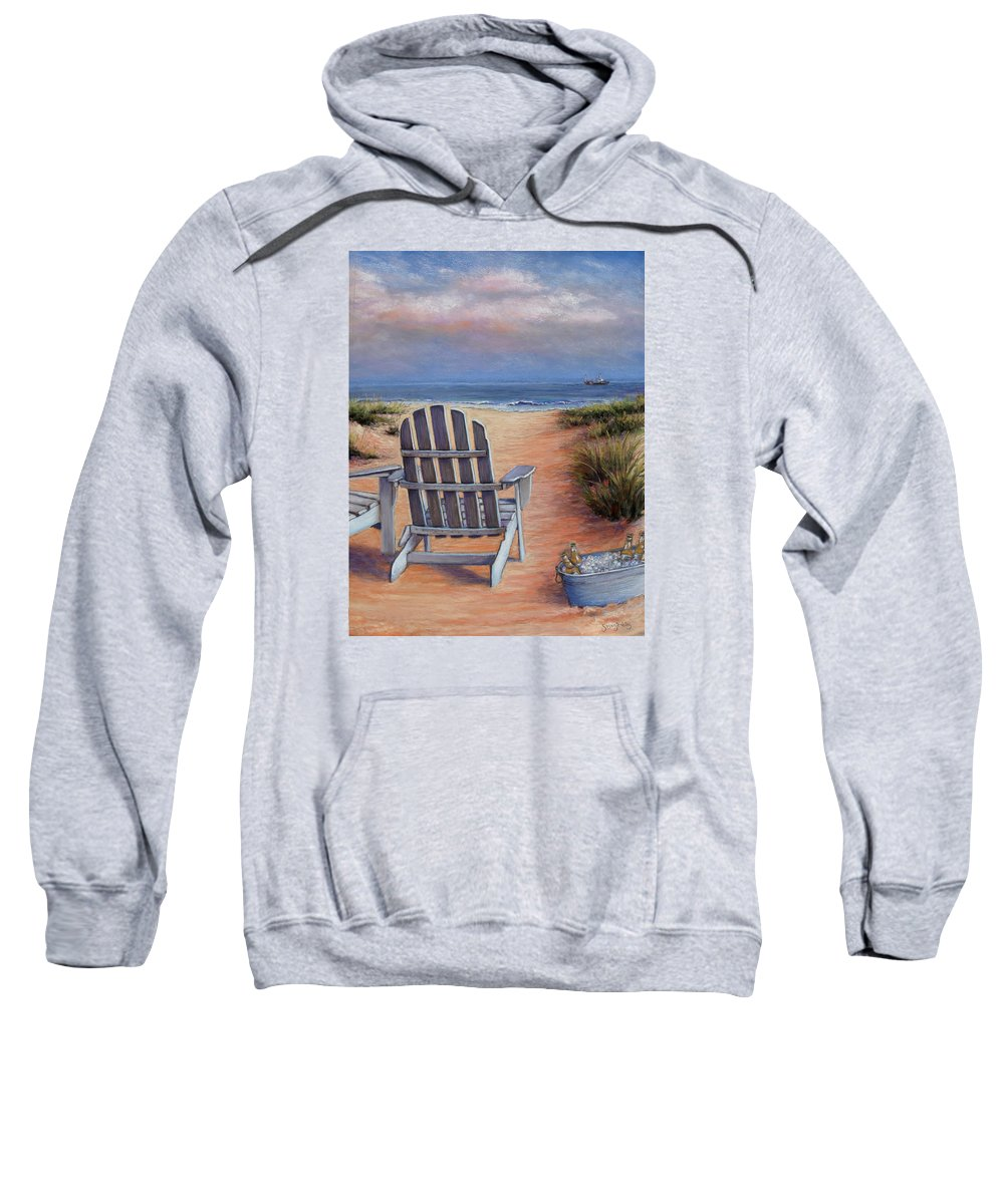 Landscape Sweatshirt featuring the pastel Time To Chill by Susan Jenkins