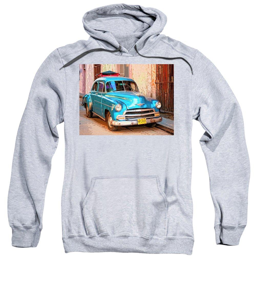 Time Traveler Mixed Media Hooded Sweatshirts T-Shirts