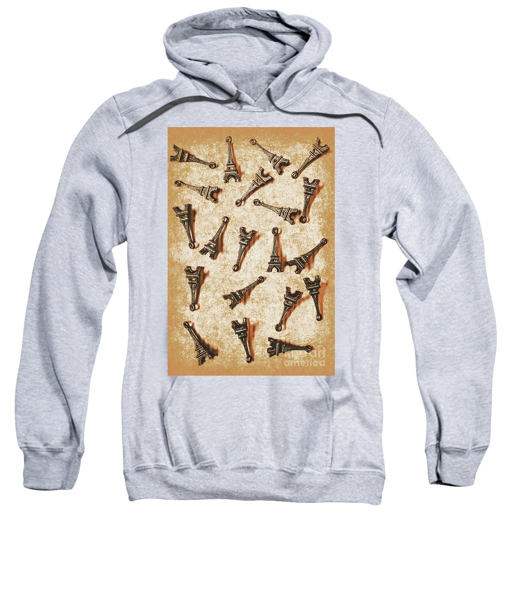 France Sweatshirt featuring the photograph Time Worn Trinkets From Vintage Paris by Jorgo Photography - Wall Art Gallery