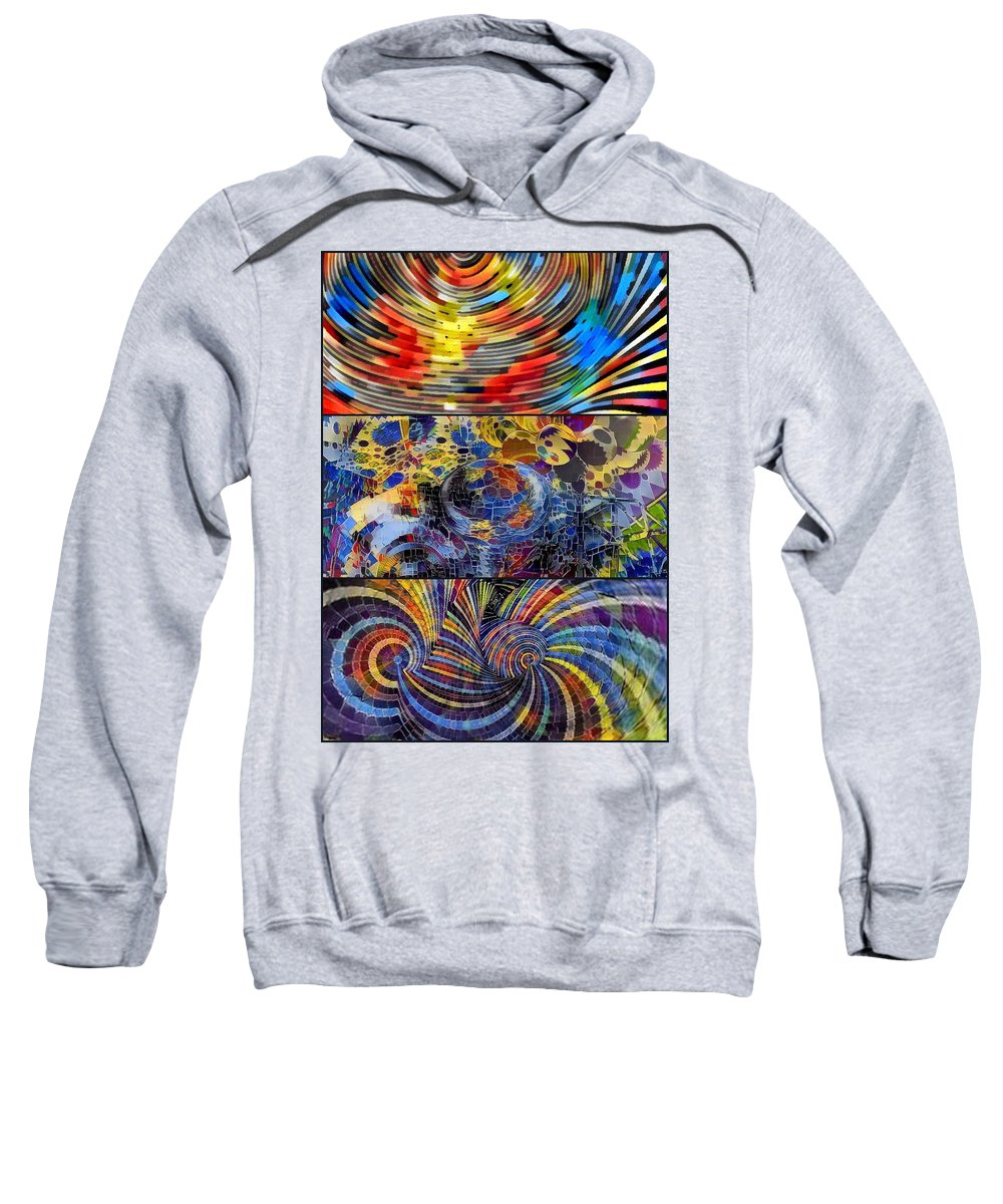 Digital Art. Abstract. Mad Vision. Riot. Explosion. Sweatshirt featuring the digital art Times Box 3 by Lawrence Allen