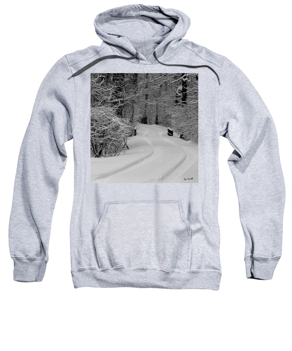 Tire Tracks Sweatshirt featuring the photograph Tire Tracks by Ed Smith
