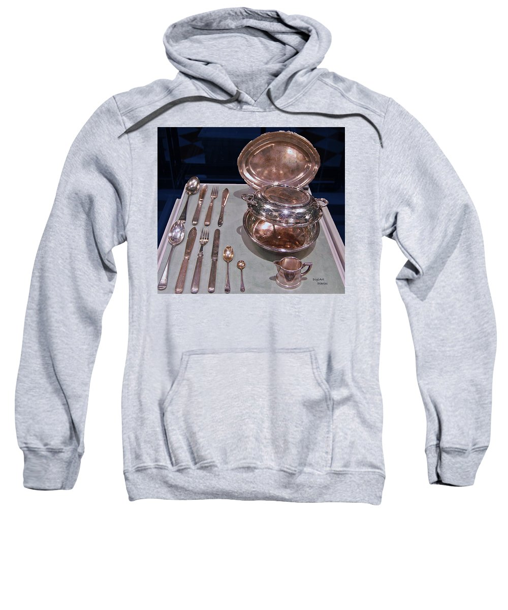 Titanic Sweatshirt featuring the digital art Titanic Silvers by DigiArt Diaries by Vicky B Fuller