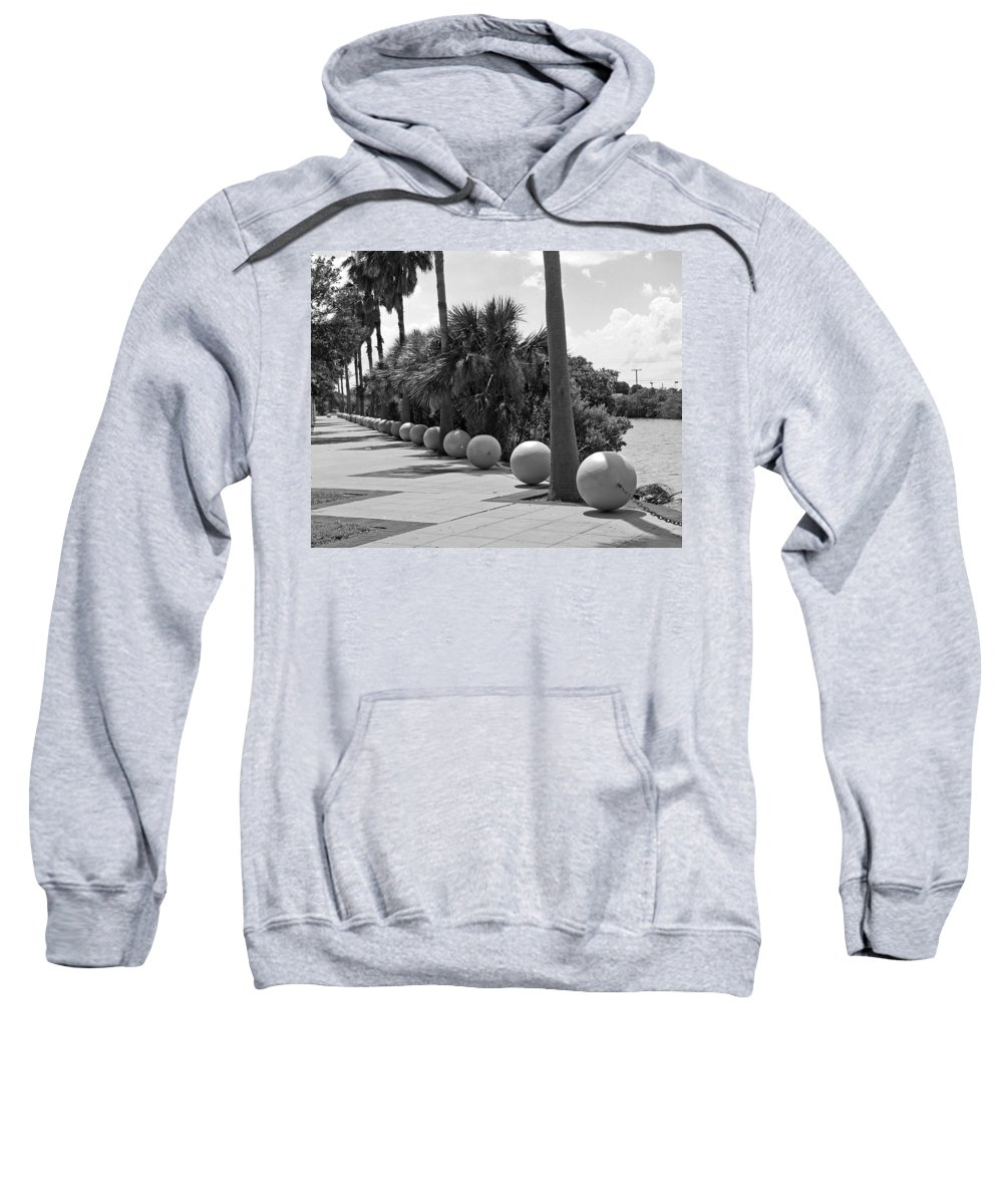 Florida; Titusville; Space; Coast; Astronauts; Astronaut; Cape; Canaveral; Mercury; Project; Freedom Sweatshirt featuring the photograph Titusville On The Indian River Lagoon In Florida by Allan Hughes