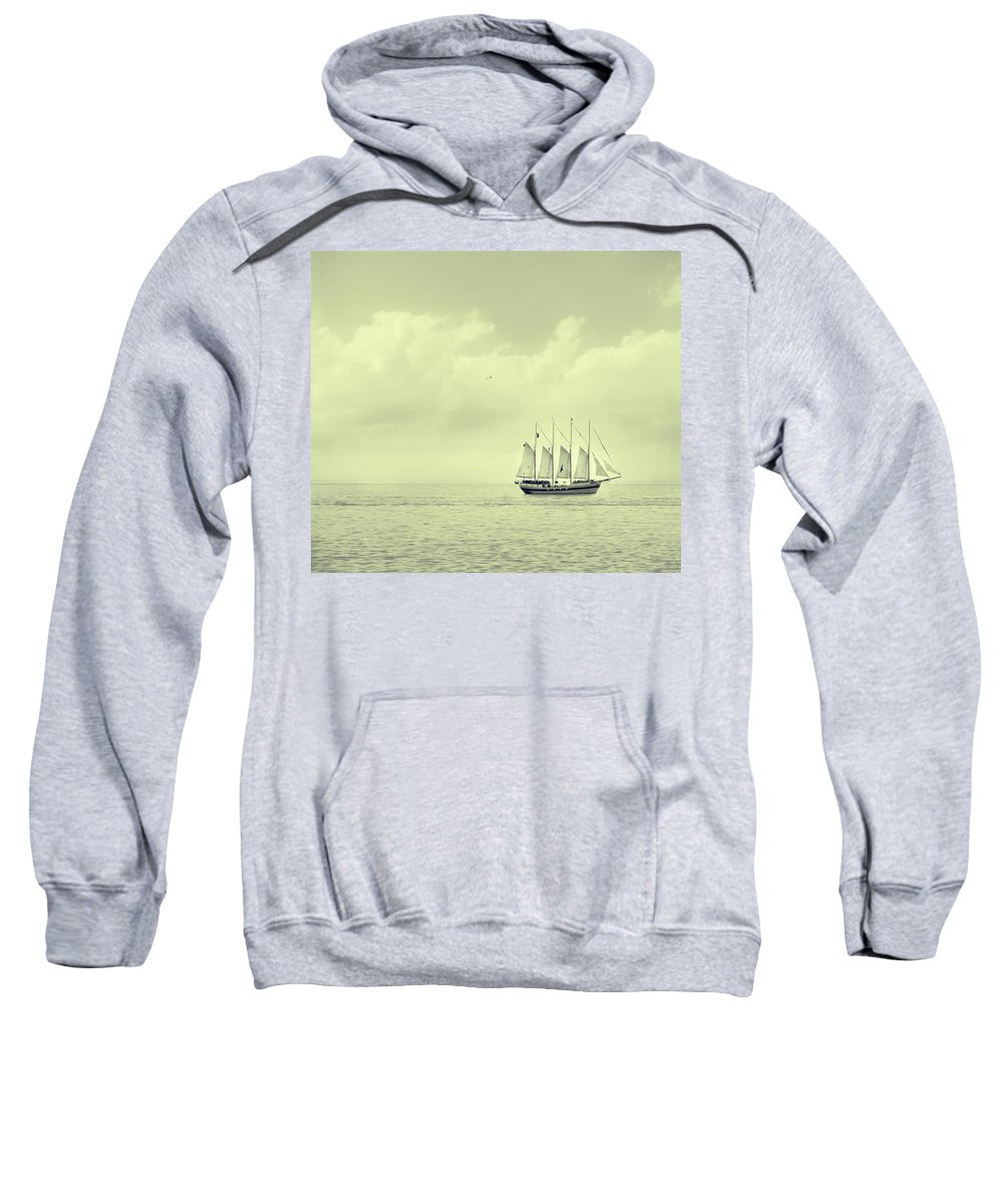 Ship Sweatshirt featuring the photograph To Hold Time In Your Hand by Dana DiPasquale