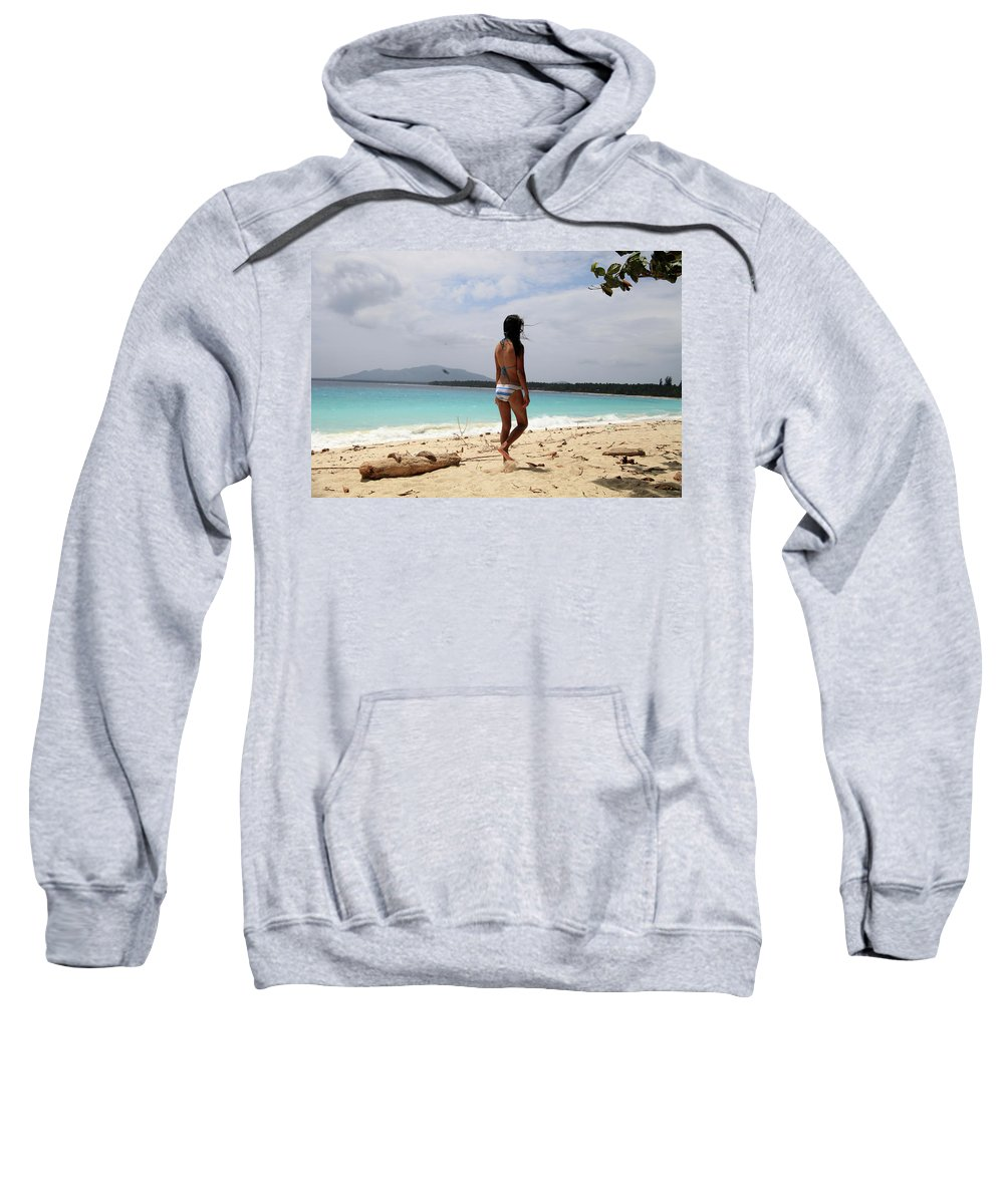 Mati Sweatshirt featuring the photograph To See Her Again by Jez C Self