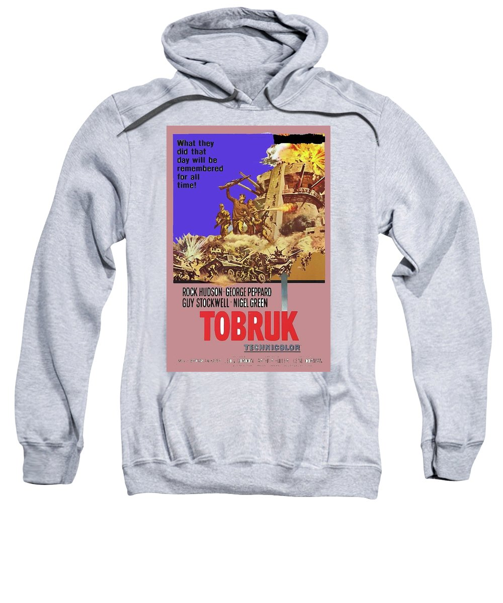 Tobruk Theatrical Poster 1967 Color Added 2016 Sweatshirt featuring the photograph Tobruk Theatrical Poster 1967 Color Added 2016 by David Lee Guss
