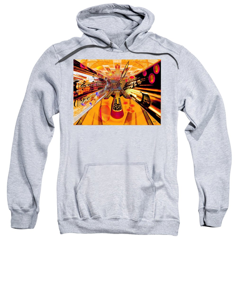 Toccata Sweatshirt featuring the digital art Toccata- Masters View by Helmut Rottler