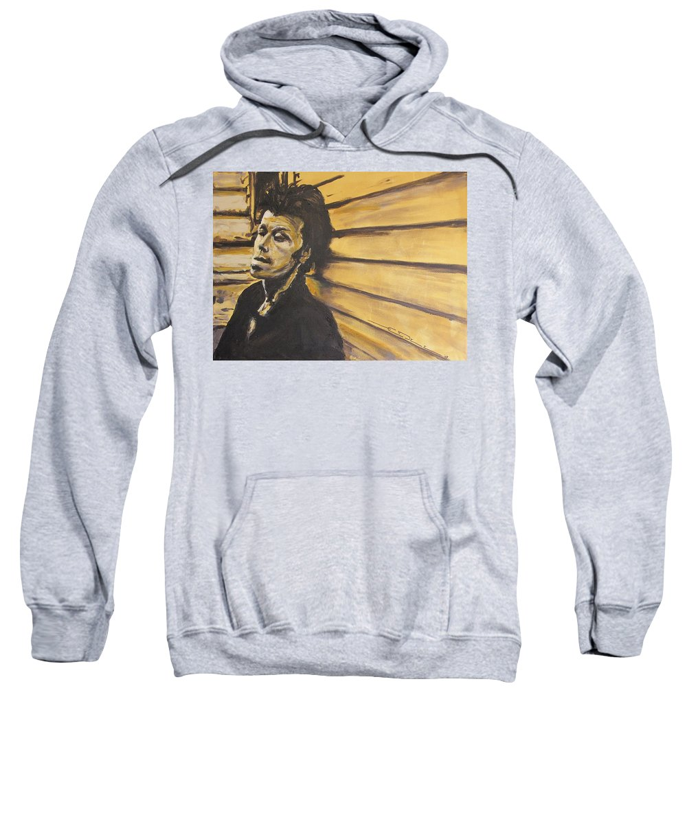 Tom Waits Sweatshirt featuring the painting Tom Waits by Eric Dee