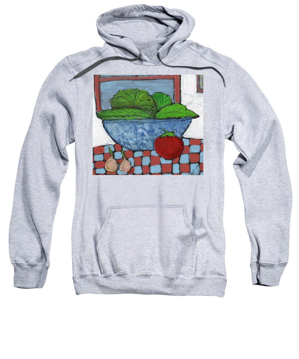 Food Sweatshirt featuring the painting Tonight's Salad by Wayne Potrafka