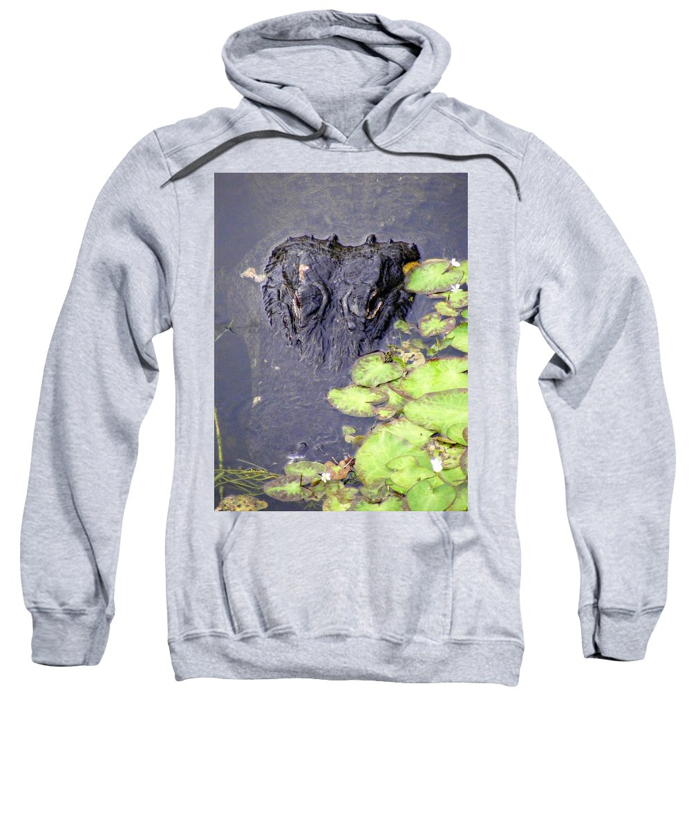 Swamp Sweatshirt featuring the photograph Too Close For Comfort by Ed Smith