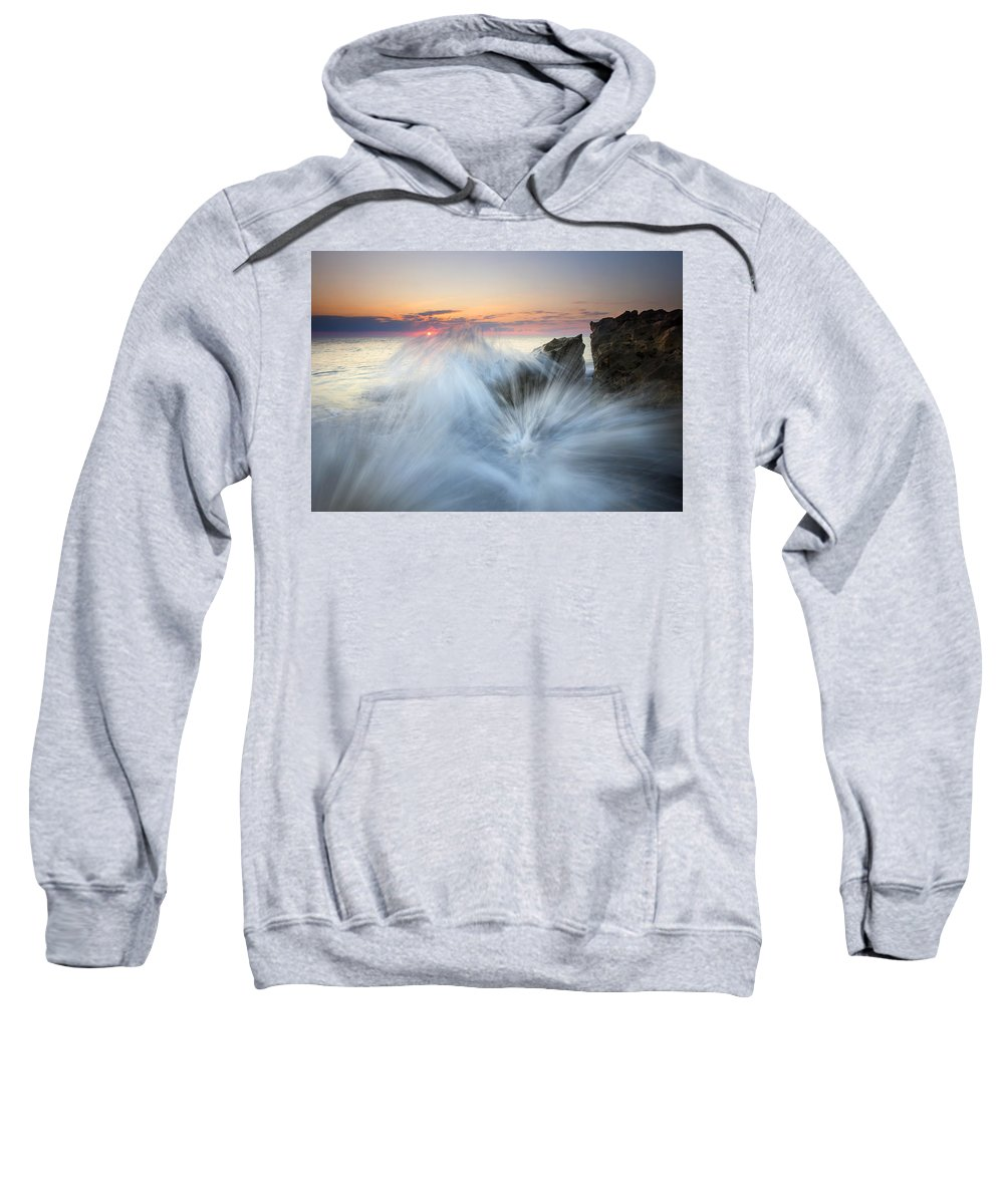 Sunrise Sweatshirt featuring the photograph Too Close For Comfort by Mike Dawson