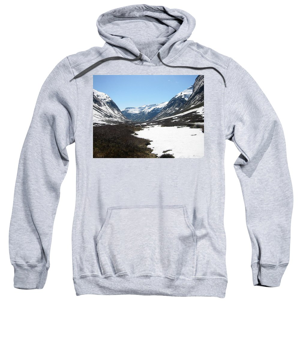 Mountain Sweatshirt featuring the photograph Top Of Rv 63 by Are Lund