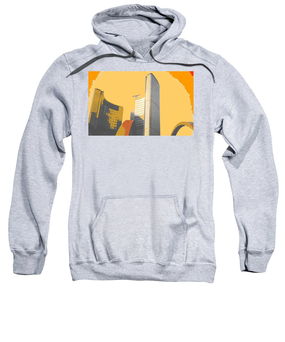 Toronto Sweatshirt featuring the photograph Toronto City Hall Arches by Ian MacDonald