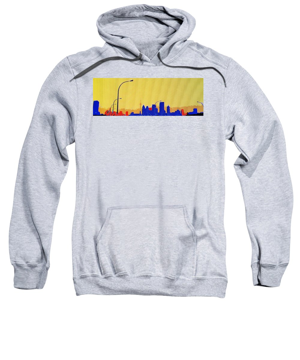 Toronto Sweatshirt featuring the photograph Toronto Lemon Skyline by Ian MacDonald