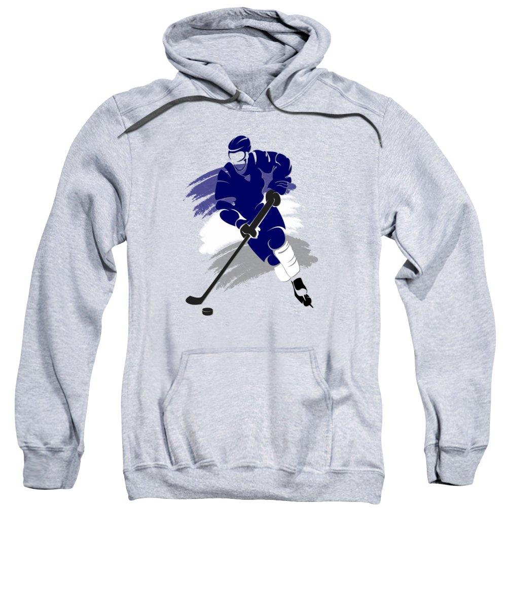 Maple Leafs Sweatshirt featuring the photograph Toronto Maple Leafs Player Shirt by Joe Hamilton