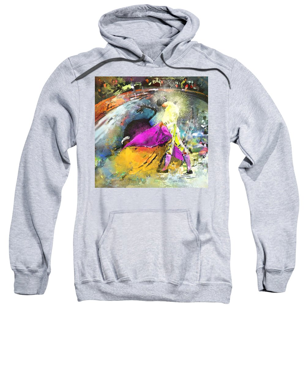 Animals Sweatshirt featuring the painting Toroscape 28 by Miki De Goodaboom