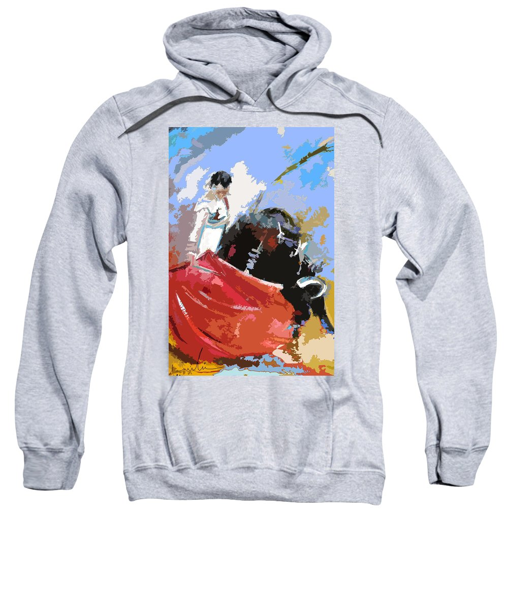 Animals Sweatshirt featuring the painting Toroscape 36 by Miki De Goodaboom