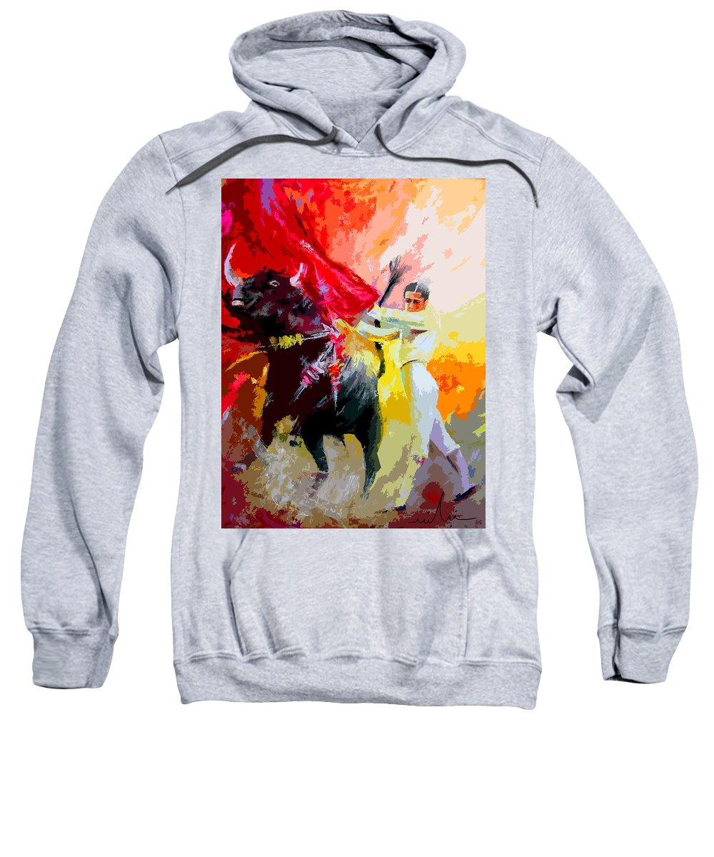 Animals Sweatshirt featuring the painting Toroscape 41 by Miki De Goodaboom
