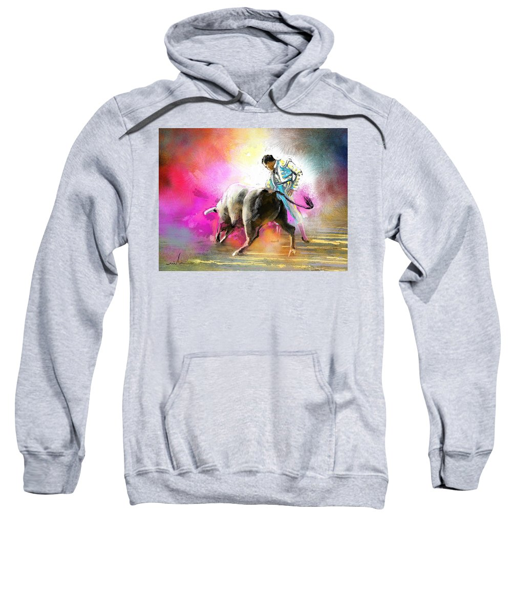 Animals Sweatshirt featuring the painting Toroscape 44 by Miki De Goodaboom
