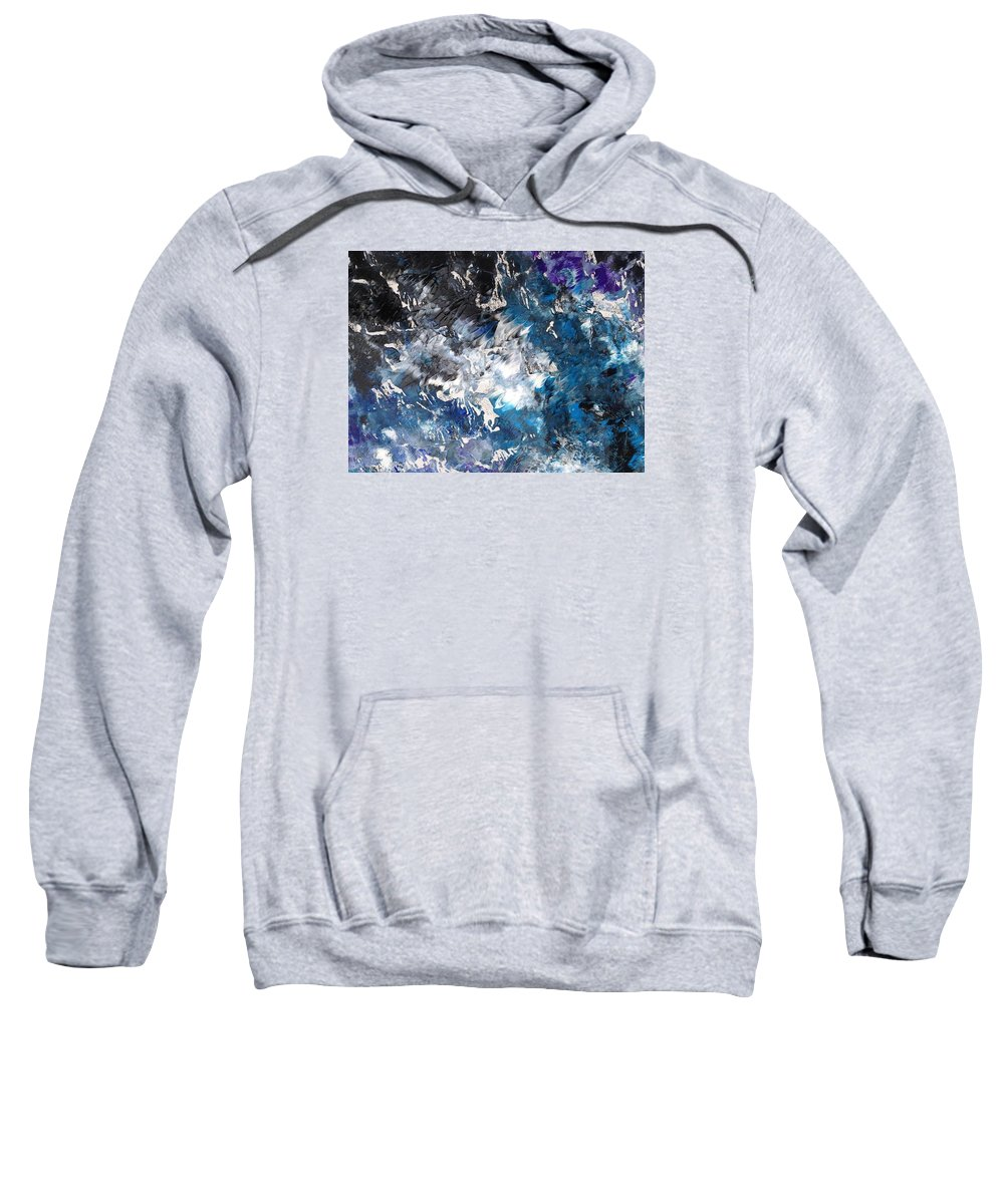 Print Sweatshirt featuring the painting Torrent by Charity Janisse