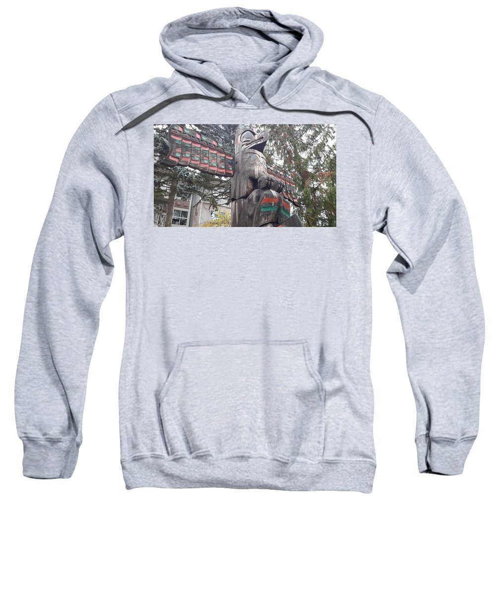 City Of Totems Sweatshirt featuring the photograph Totem by Les Polgar