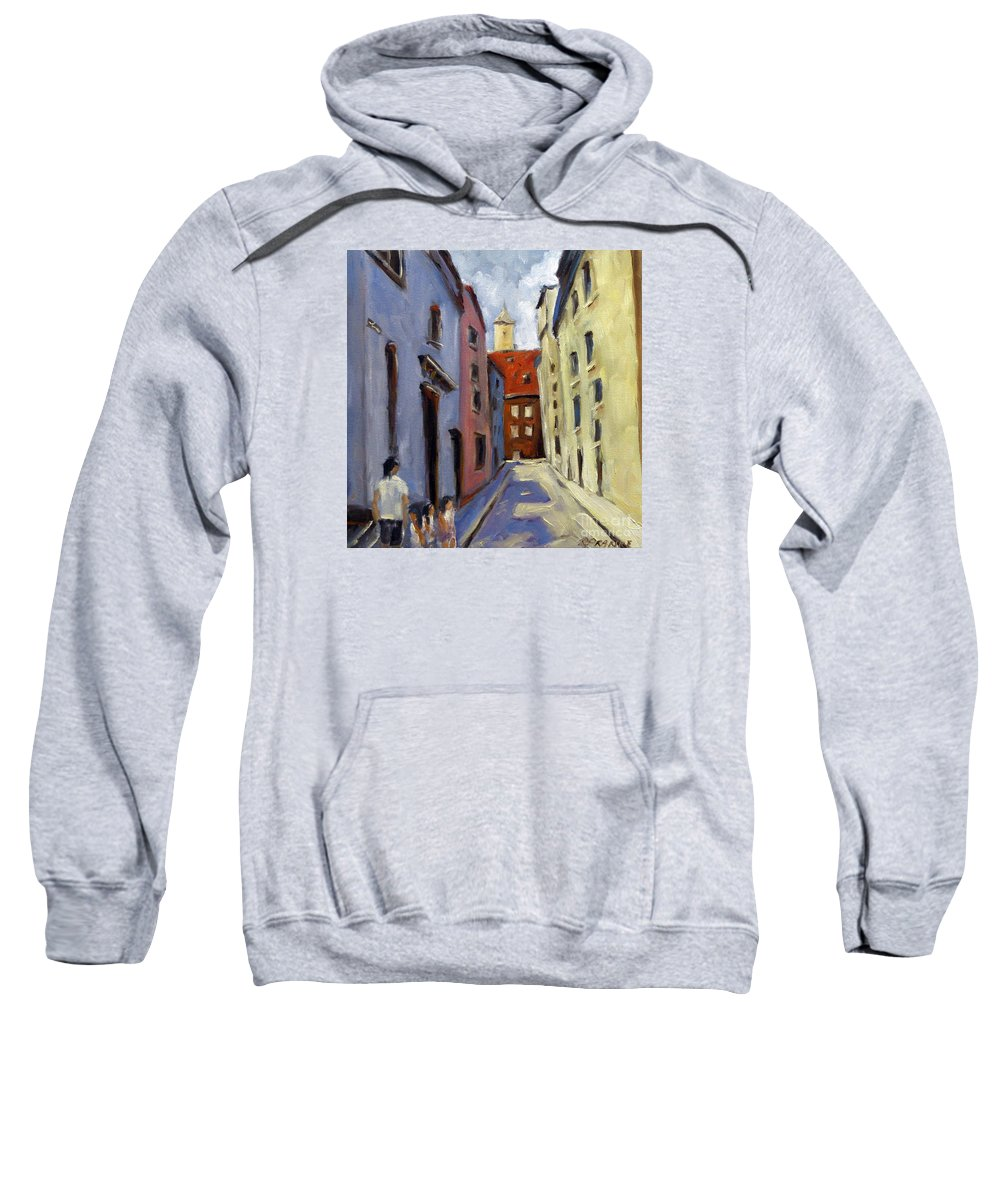 Urban Sweatshirt featuring the painting Tour Of The Old Town by Richard T Pranke