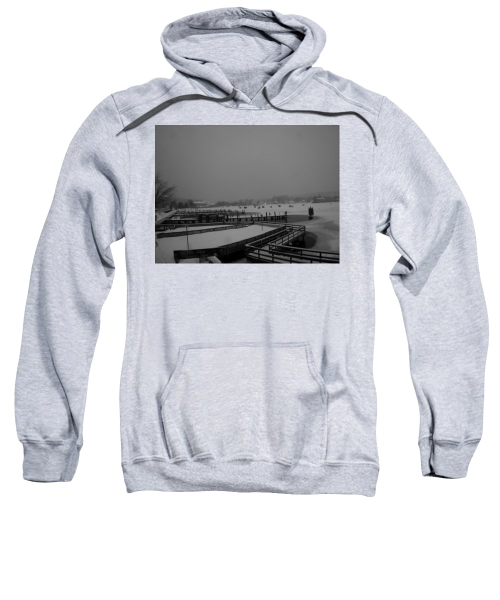 Meredith Nh Sweatshirt featuring the photograph Town Docks-bob Houses by Michael Mooney