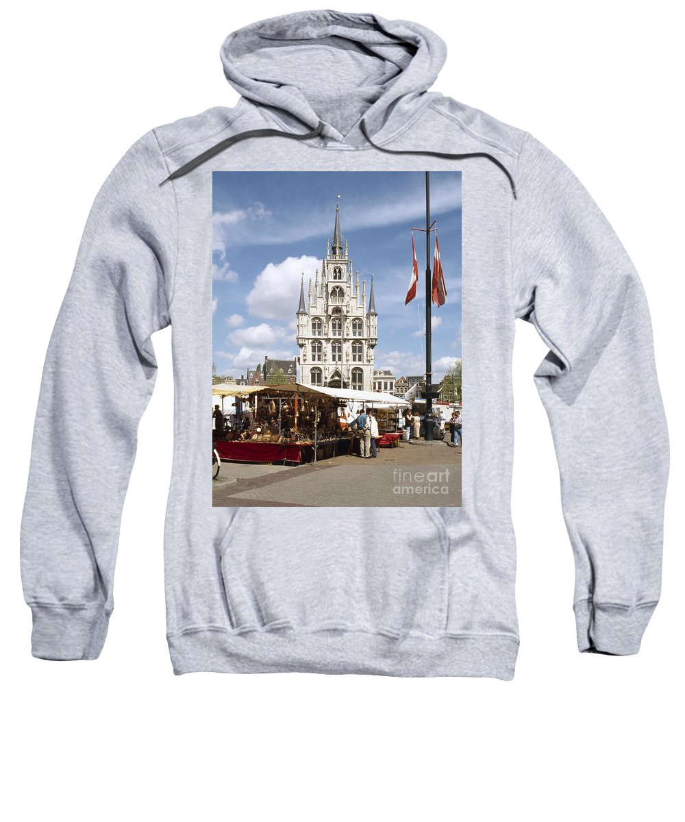 Town Hall Sweatshirt featuring the photograph Town-hall And Marketplace by Casper Cammeraat