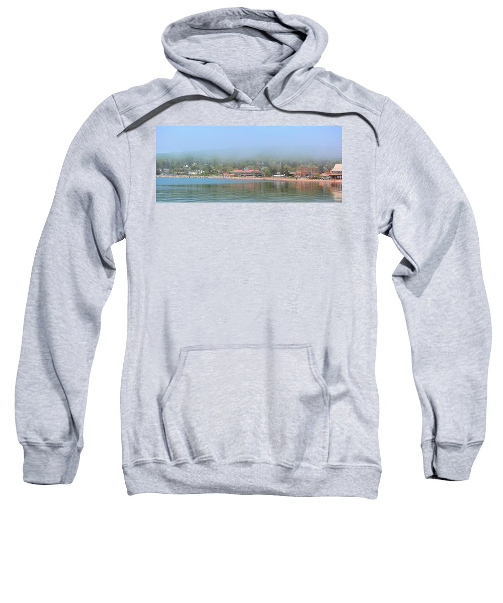 Town Sweatshirt featuring the photograph Town Of Grand Marais by Bonfire Photography