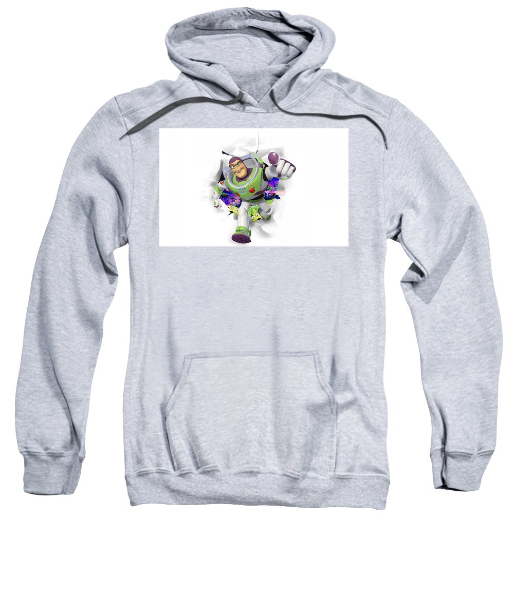 Toy Story Sweatshirt featuring the digital art Toy Story by Bert Mailer
