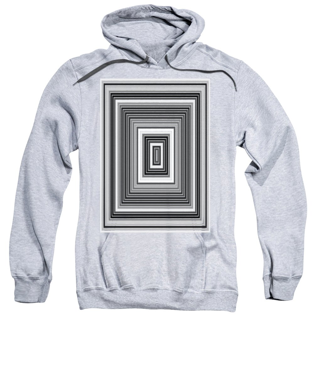 Abstract Sweatshirt featuring the digital art Tp.2.1 by Gareth Lewis