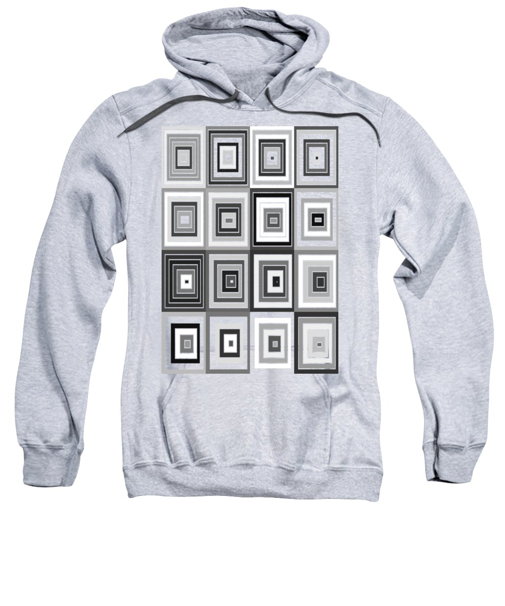 Abstract Sweatshirt featuring the digital art Tp.2.37 by Gareth Lewis