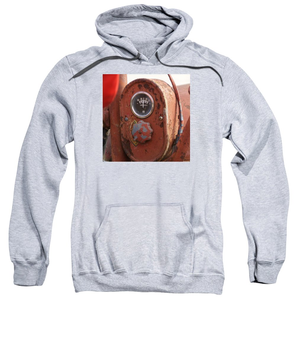 Farmall Tractor Sweatshirt featuring the photograph Tractor gage by Toni Berry