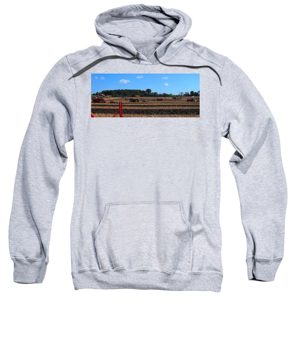 Tractors Sweatshirt featuring the photograph Tractors Competing by Ian MacDonald