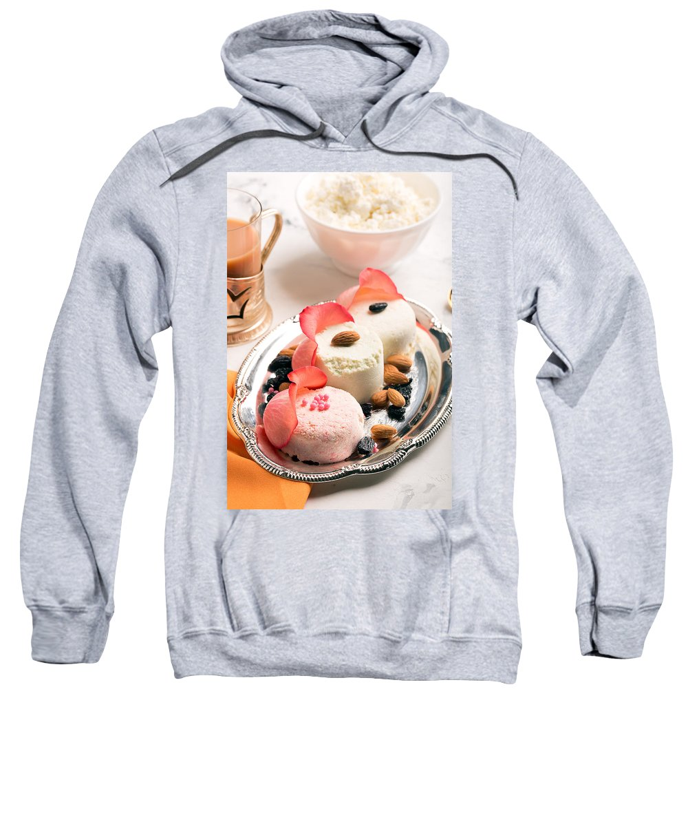 Vadim Goodwill Sweatshirt featuring the photograph Traditional Indian Sweet Sandesh by Vadim Goodwill
