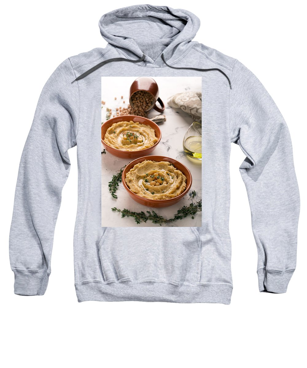 Vadim Goodwill Sweatshirt featuring the photograph Traditional Oriental Hummus by Vadim Goodwill