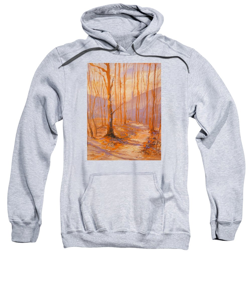 Indiana Sweatshirt featuring the painting Trail Eight by Marietta Faso