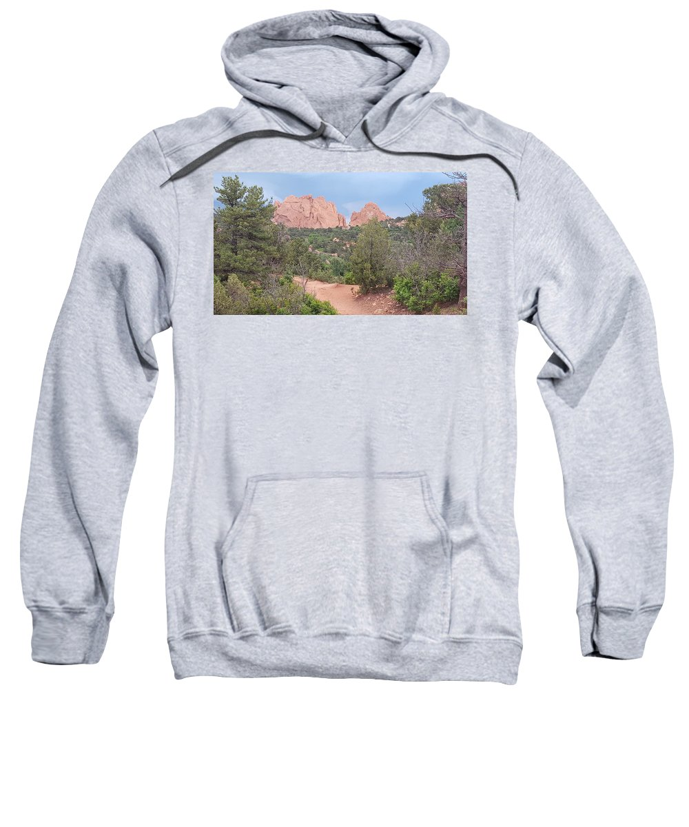 Garden Of The Gods Sweatshirt featuring the photograph Trail Through The Garden by David McGill