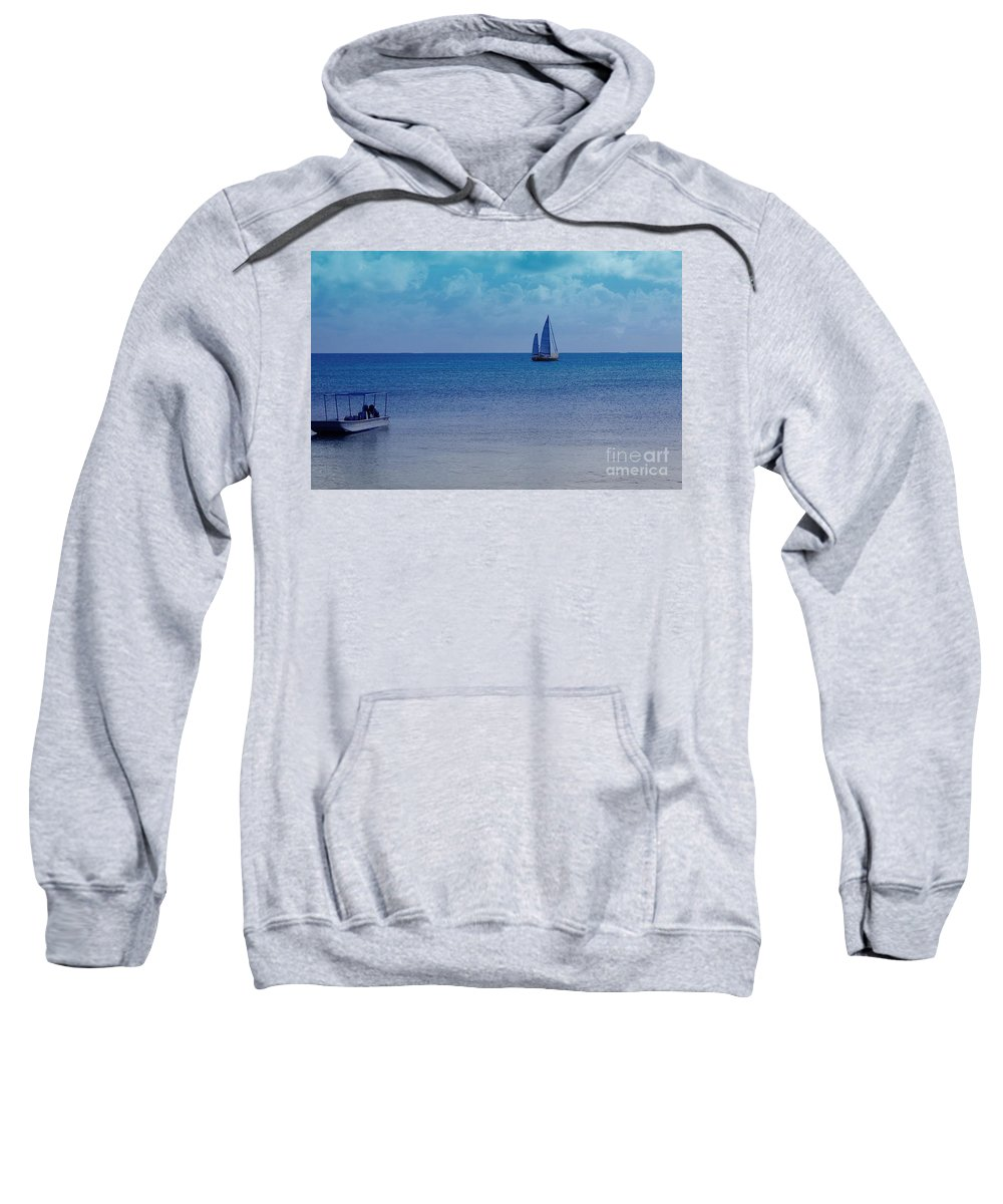 Water Sweatshirt featuring the photograph Tranquil Blue by Debbi Granruth