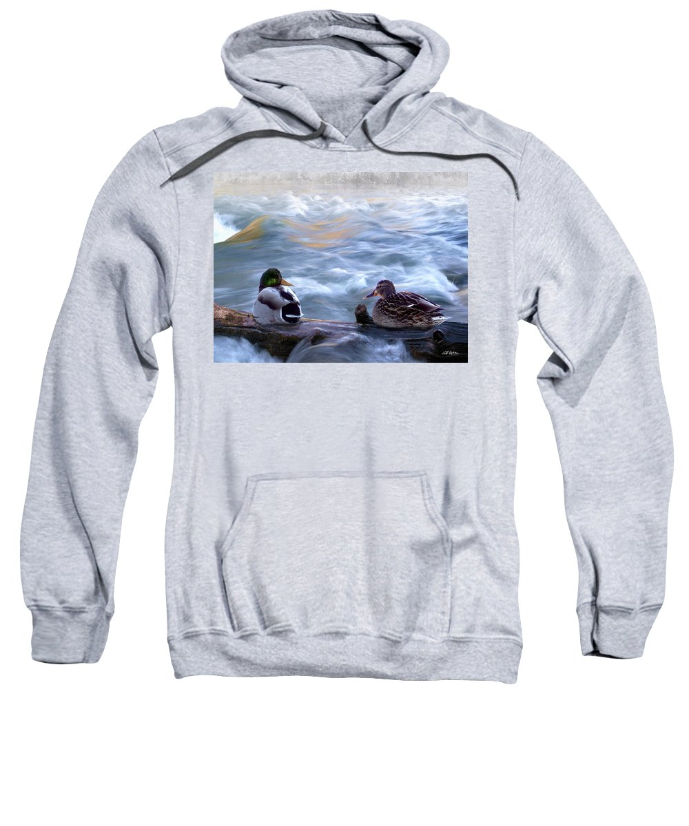 Wildlife Sweatshirt featuring the digital art Tranquility On The River Of Life by Bill Stephens
