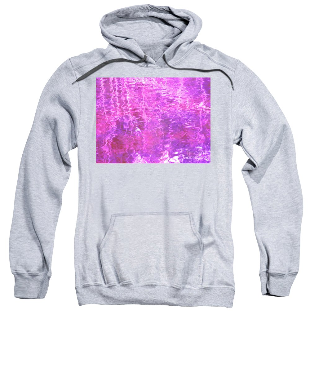 Abstract Sweatshirt featuring the photograph Transcend The Ripples by Sybil Staples