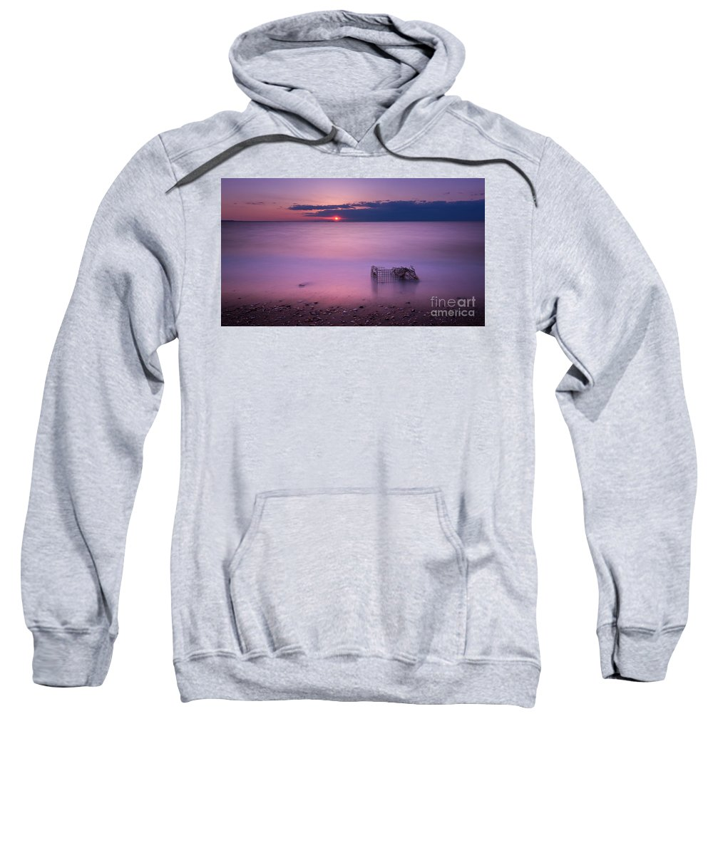 Sandy Hook Sweatshirt featuring the photograph Trapped by Michael Ver Sprill