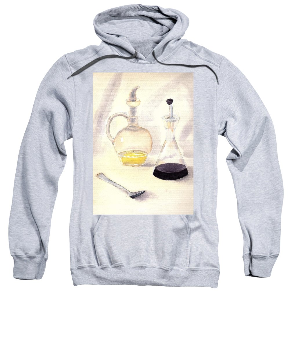Bottles Sweatshirt featuring the painting Trasluscent Objects 2 by Mirta Ormazabal