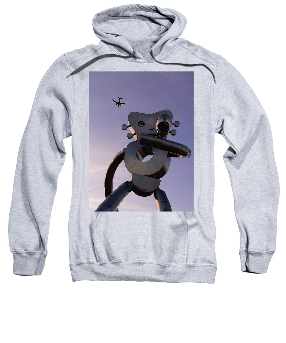 Metal Sweatshirt featuring the photograph Travelling Man by Angela Wright
