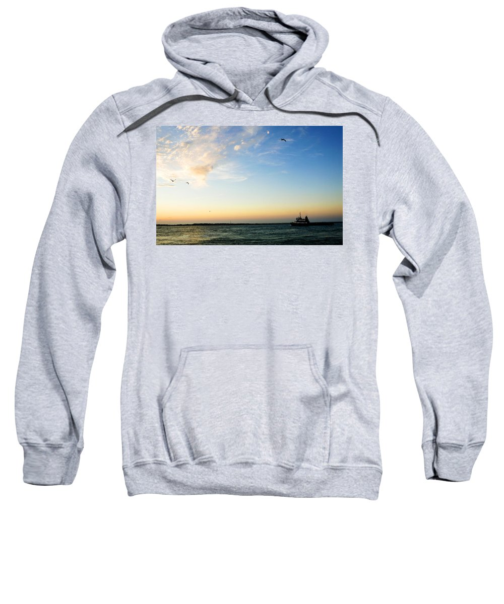 Sip Sweatshirt featuring the photograph Travels At Sunset by Marilyn Hunt