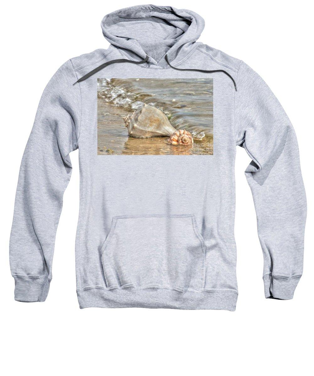 Emerald Isle North Carolina Sweatshirt featuring the photograph Treasures Found by Benanne Stiens