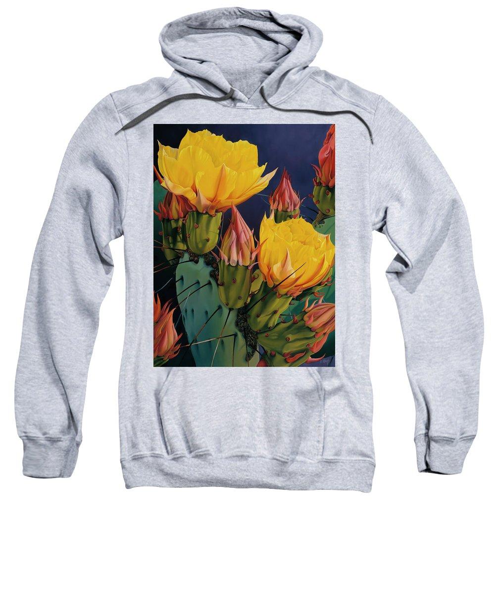 Flowers Sweatshirt featuring the painting Treasures In Highlight IIi by David Manje