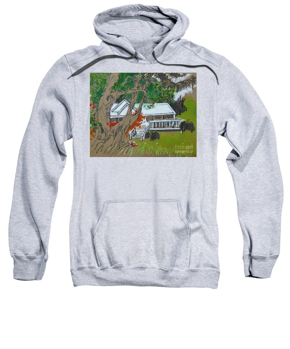 Tree Sweatshirt featuring the drawing Tree by Guanyu Shi