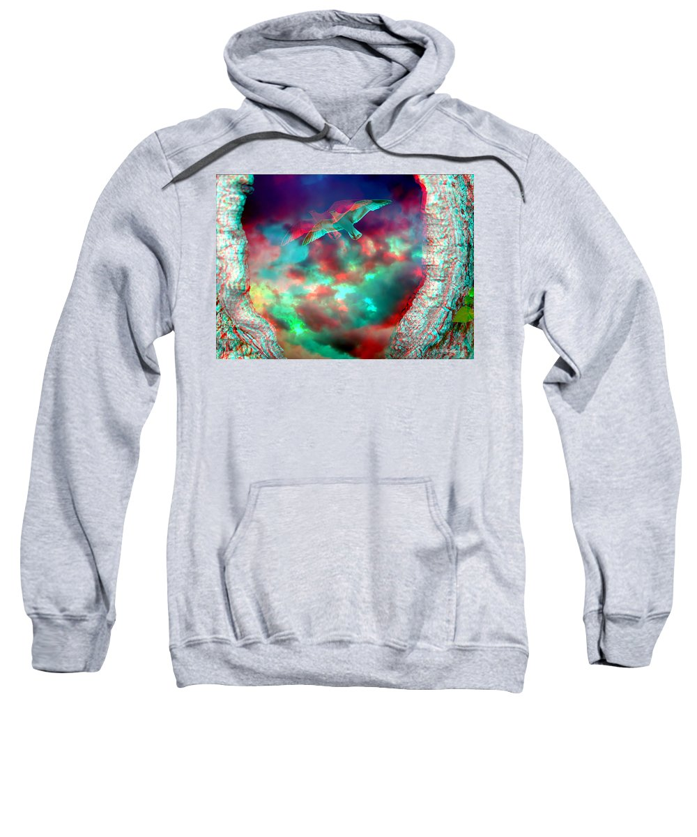 2d Sweatshirt featuring the photograph Tree Trunk Portal by Brian Wallace