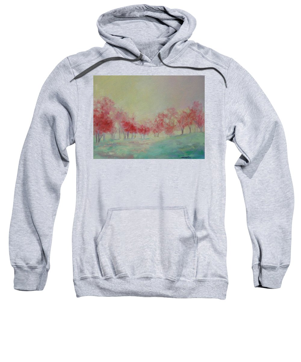 Impressionist Trees Sweatshirt featuring the painting Treeline by Ginger Concepcion